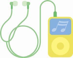 携帯オーディオプレイヤーイラスト